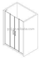 made in foshan double hinge doors shower screen for apartment