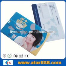 hot sell Credit card usb flash drive, popular usb business card with logo printing