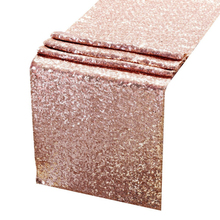 Sequin Table Runners Rose gold 12 X 108 Inch Glitter ROSE GOLD Table Runner Party Supplies Fabric Decorations For Wedding Birthd