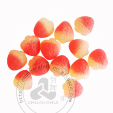 Halal Gummy Candy Juicy Peach Shape Gummy Candy In Bulk
