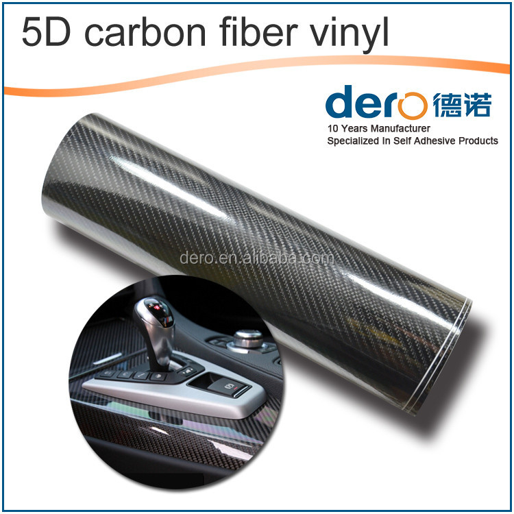 Hot sale glossy 5D carbon fiber car sticker wrapping vinyl film for car