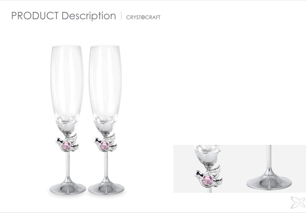 Special Price Trendy Chrome Plated Metal Wedding Glass