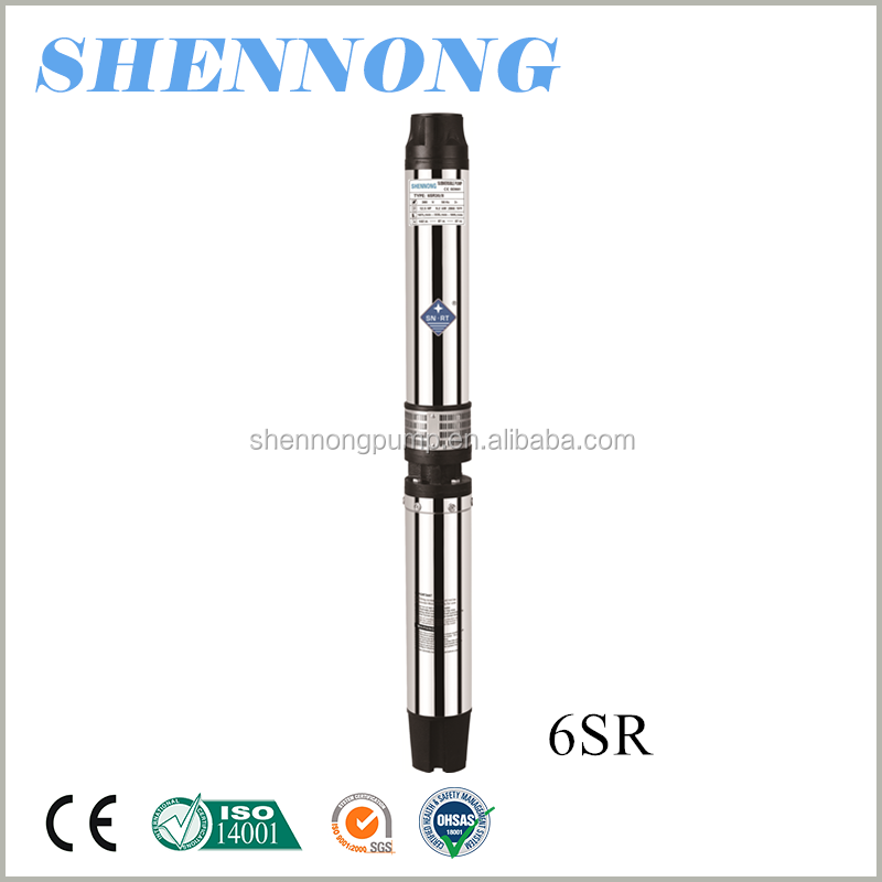 6 inch high pressure agricultural irrigation submersible deep well pump cable 45m3/h