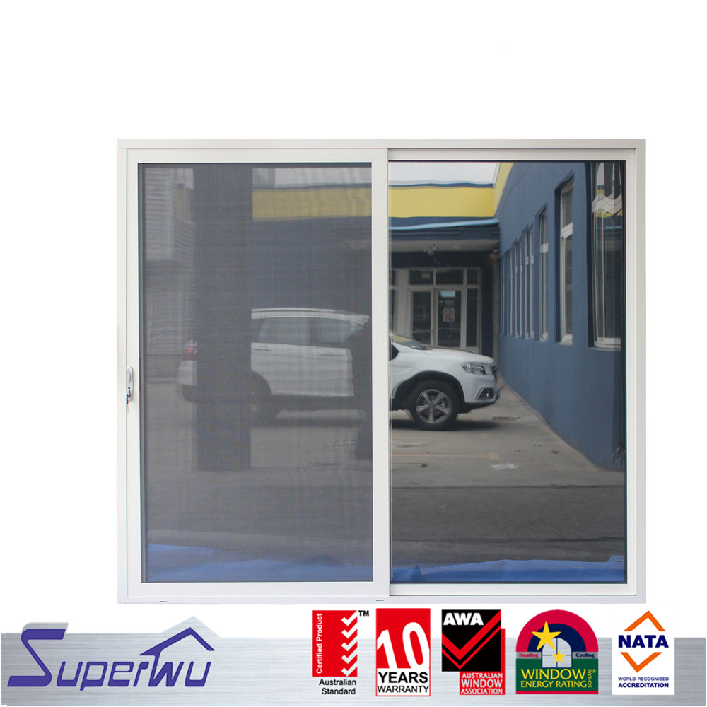 Remote control morden design aluminum all glass sliding door to divide room for balcony