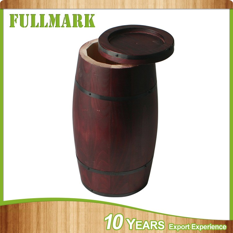 Natural Color Coffee Bean Packaging Wood Barrel