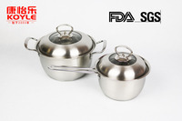 stainless steel cookware cook pot stock pot and milk pot two pots