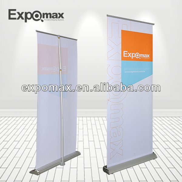 promotional team sport club fan outdoor flag/banner gift motor roll up banner stand
