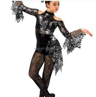 2016 New !!- women black shinny lace dresss- lady stage wear