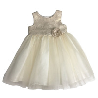 Gold Sleeveless Baby Girl Dress Names