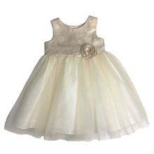 Gold sleeveless baby girl dress names with pictures