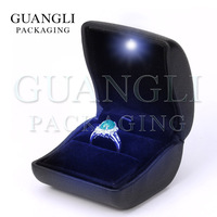 LED Ring box from leather material jewelry packaging on sales alibaba com