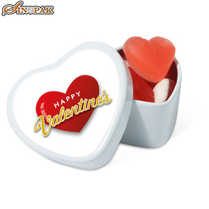 China Valentine's candy chocolate tins offers heart shaped tin box