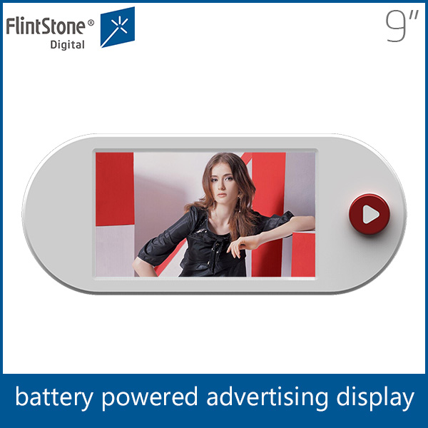 "flintstone lcd advertising player, loop playing battery 9"" taxi advertising player/new advertising products"