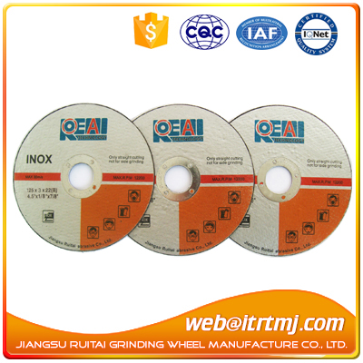 abrasive cutting disc for metal