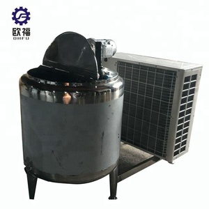 High quality food grade stainless steel used milk cooling tank