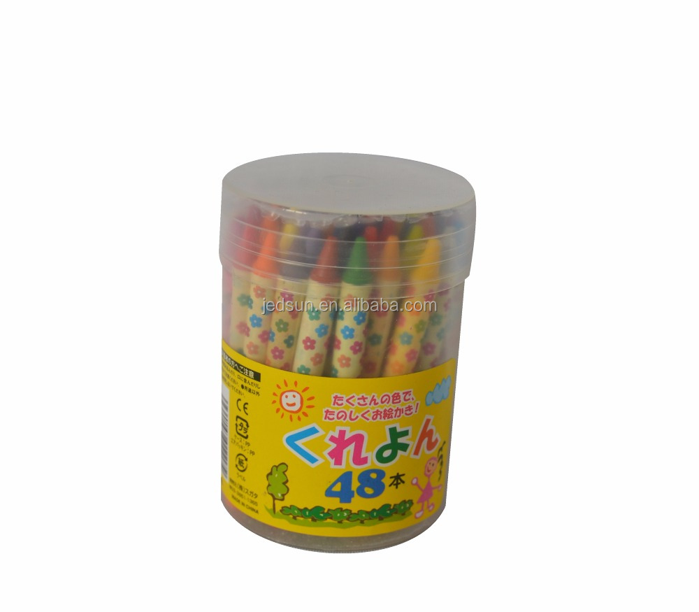Children use eco-friendly crayons box,plastic cylinder crayons holder