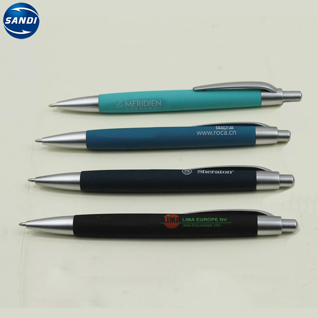 Promotional custom gift plastic ball pen with logo