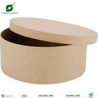 ROUND PAPER MACHE CRAFT BOX GIFT