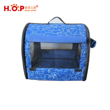 Blue Collapse Cat Pet Cage Have Handle Indoor Outdoor Cage