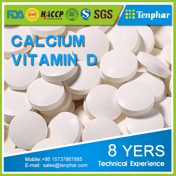 OEM 400mg Calcium Ascorbate Supplement Chewable Tablet