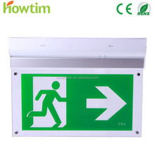 led emergency charging light with exit sign for fire escape