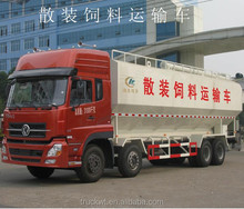 40m3 dongfeng Kinland 8x4 electric screw animal feed truck