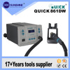 High quality quick 861DW Lead free hot air gun smd rework station for repair cellphone