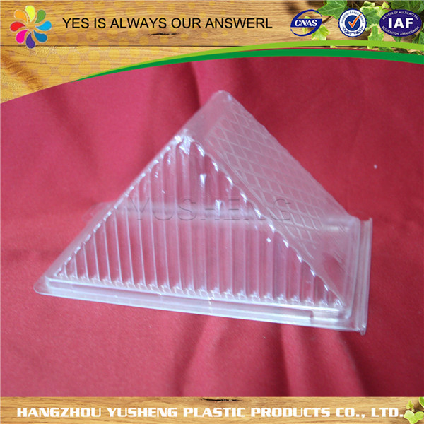 PET/PP transparent disposable triangle sandwich wedge packaging