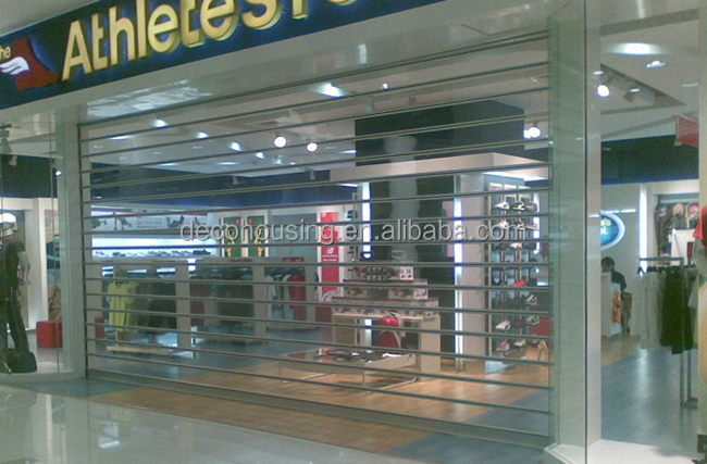 automatic transparent PVC roller shutter with High Elastic and impact security protection and good view display