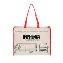 Recycle natural color cotton canvas tote bag with custom design