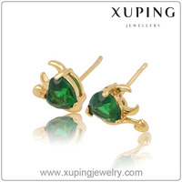 90302 Xuping new gold plated earring, heart shape stud earring