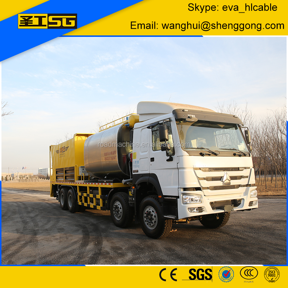 HGY5314TFC sinotruck synchronous chip sealer for road construction
