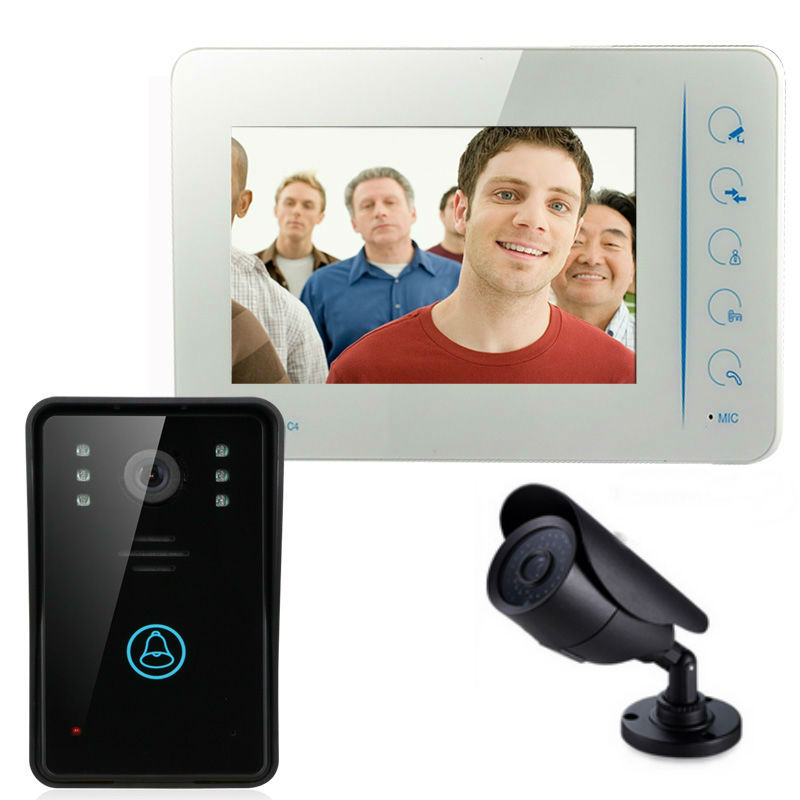 "card code unlock 7"" Video Door Phone Doorbell Intercom Home Color Security Camera Monitor Night with photo and video recording"