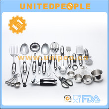 new products 23 piece stainless steel japanese heat resistant rubber cooking utensil