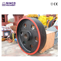 Jaw crusher all spare parts - Flywheel, Belt wheel, Eccentric shaft, Power lock, Bearing, Spring etc
