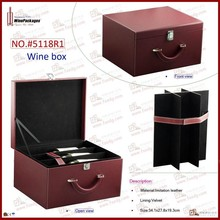 wooden case for more bottles wine box cover