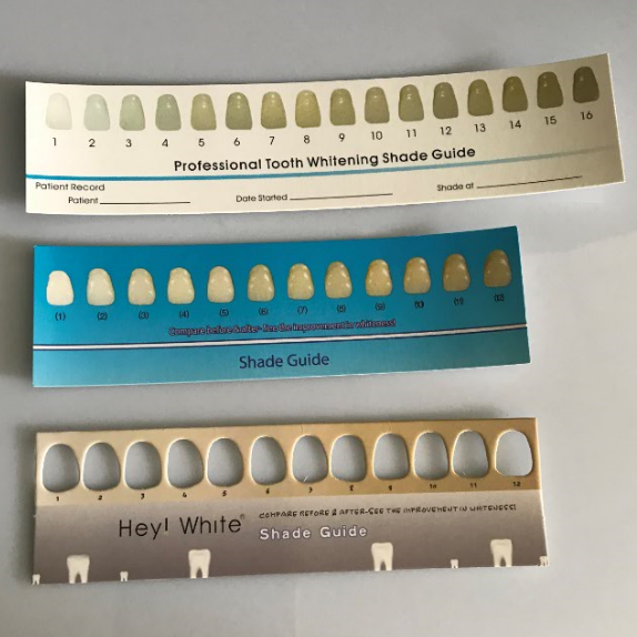 Home use Teeth Whitening Paper Shade Guide for Home Teeth Whitening