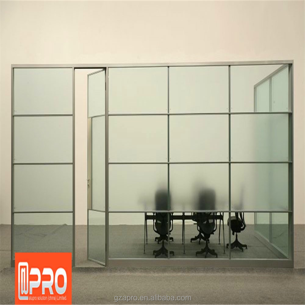 Best price aluminum glass door and window frame of office Office partition walls with doors
