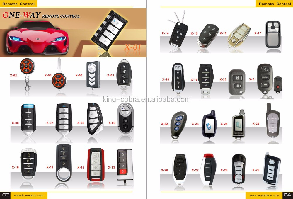 DC 12V Car Alarm System One Way