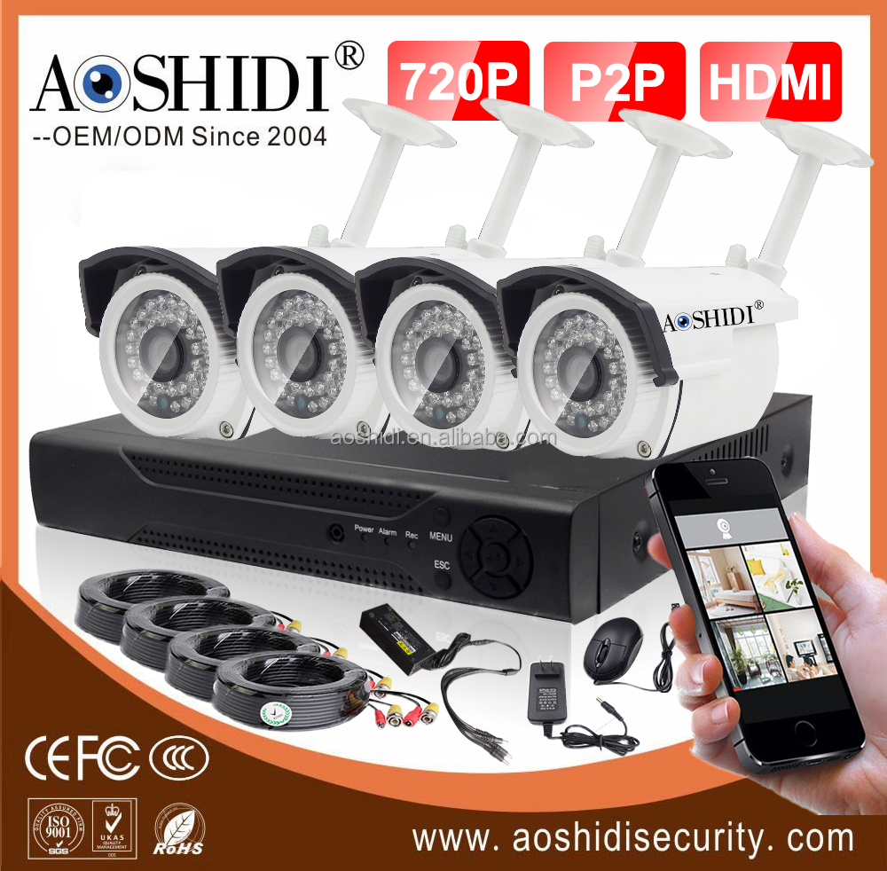 low price cctv bullet camera 4ch cctv kit personal security system