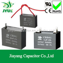 cbb61 fan capacitor 2 uf ceiling fan capacitor 5 wire 5uf mkp capacitor