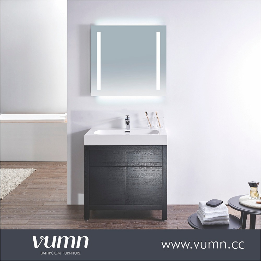 32 inch factory direcet free standing bathroom vanity unit,veneer bathroom furniture