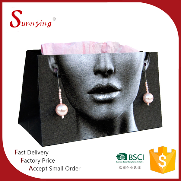 Custom Smart Color Jewelry Boutique Kraft Shopping Paper Bag