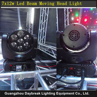 7PCS X 12W Led Moving Head Light Stage Beam RGBW 4 in 1 Quad Color AC110V-240V