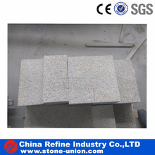 Chinese yellow granite brush flamed G682 for wall & floor