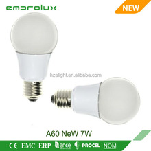 new style led light bulb A60 7w E27 ce Rohs Erp certified 300 degree dimmable a60
