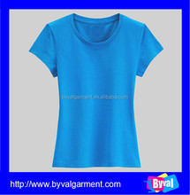 Promotional fashion womens polyester spandex blank dri fit t shirts wholesale factory price