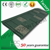 Guangzhou factory direct light weight spanish roof tile metal roofing sizes