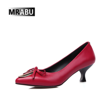 2017 famous designer shoes for women Bowtie Pinted-toe high heel Casual female french heel shoes