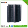 Glossy colorfast black roof tiles for build roofing